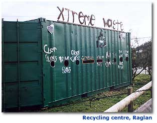 Photo of the recycling centre, Raglan.